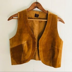 1970's Leather Cropped Vest
